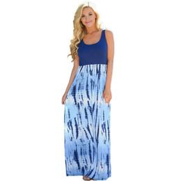 Wholesale Pencil Flare - 2017 Summer Beach Long Dresses for Women Bohemian Print Sleeveless Slim Maxi Dress Female Casual Sexy Vintage Bodycon Vestidos Black Dress
