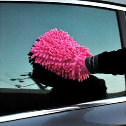 Wholesale Cloth Hand Towels - Car Hand Soft Cleaning Towel Microfiber Chenille Washing Gloves Coral Fleece Anthozoan Car Sponge Wash Cloth Car Care Cleaning YYA106