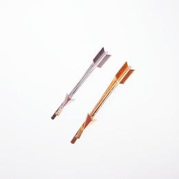 Wholesale Metal Clips China - Alloy Arrow Design Woman Hair Clip 18K Imitation Rhodium Concise Geometry New Fashion Punk Metal Hair Clip OEM ODM Wholesale Minimum USD50