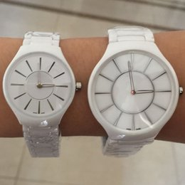 Wholesale New Ceramic Watches For Woman - New RD Ceramic Couple Men Women Watch Quartz Movement Man Lady Dress Watches For Lover's