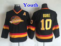f2ad11036c6 bure jersey 2019 - Youth Vancouver Canucks Hockey Jersey 10 Pavel Bure  Shirt Vintage CCM Home