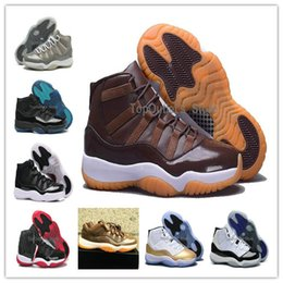 Wholesale Genuine Sheepskin Women - Retros 11 Retro 11 Men Basketball shoes XI Bred Grey suede Wool Chocolates women basketball shoe wms space jam boots wmns space jams