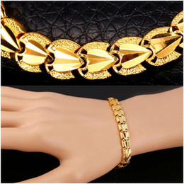 Wholesale Trendy Fashion Accessories Wholesale - High Quality Heart Love Bracelets Sale Gold Color Bracelets & Bangles Chain For Men Women Gift Party Jewelry Trendy Gift Fashion Accessories