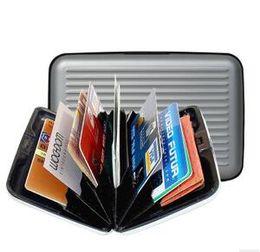 Wholesale Organizer Banks - 1000pcs Aluminium Credit card wallet cases card holder bank case aluminum wallet with white box