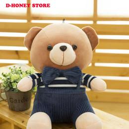 Wholesale Shipping Stuffed Bear - 30cm Plush Bear Stuffed Animals striped pants bear monkey Plush Soft Doll Baby Birthday Gift Kids Toys free shipping