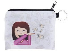 Wholesale Dress Free Shippng - 100pcs 29 Styles Children cute small Cartoon expression emoji Wallet Zipper Case Coin change Purse Pouch mini bag goodfaithgirl Free shippng