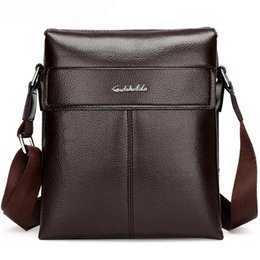 Wholesale Male Covers - 2017 Man Leather Messenger Bag, Male Cross Body Shoulder, High Quality Men's Travel Bag Brown Handbags Men Brand Business Bag