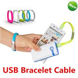 Wholesale Sharp Bracelets Wholesale - Mini Colorful Hot Sales Portable Micro USB Cable Bracelet Charger Data For Samsung S7 S6 Edge HTC Blackberry Universal Android