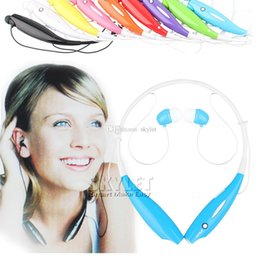Wholesale Iphone Color Earphone Headphone - For HB 800 HB800 Bluetooth Headphone Wireless Stereo Headsets Sport Neckband Earphone in-ear Jogging Earphone Without logo With Package