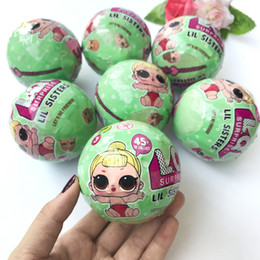 Wholesale Gift Toys - Funny Toy Gift 7.5cm LOL surprise doll with Many style Baby Ball Toys With Retail Box Baby Dolls Lil Sisters Series 2
