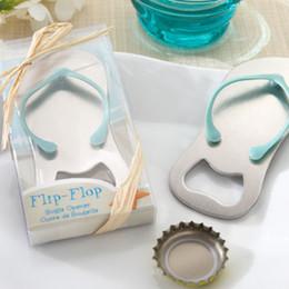 Wholesale Blue Wedding Flip Flops - Wedding favors gifts Slipper bottle opener flip flop Beer bottle opener wedding Party decoration
