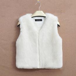 Wholesale Cropped Fur Jacket - New Arrival Crop Vest Women Girls Faux Fur Gilet Jacket White Black Gray Brown Short Fur Coat Sleeveless Wool Blend Overcoats CJF0947