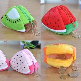 Wholesale Stereoscopic Bag - Stereoscopic Triangle Fidget Spinner Packaging Bag Buggy Bag 3D Fruit Plush Handbag MINI Coin Purses Zipper Key Headphone Holder Bags