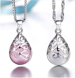 Wholesale Moonlight Silver - Silver plated pendants female models love the Trevi Fountain Moonlight Opal Fashion jewelry high quality jewelery