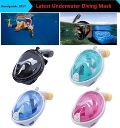 Wholesale Scuba Snorkeling Mask - 2017 Brand Underwater Diving Mask Snorkel Set Swimming Training Scuba mergulho full face snorkeling mask Anti Fog camera stand M481