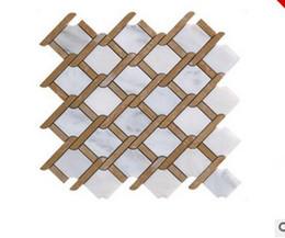 Venta caliente 2017 Pared de mármol natural en el fondo Salón de mosaico contraído y contemporáneo desgaste resistente nuevo horizonte desde fabricantes