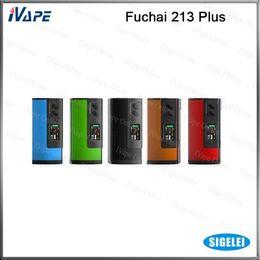 Sigelei batterien online-100% original sigelei fuchai 213 plus tc mod 10 watt-213 watt box mod mit oled display schiebe batteriefach abdeckung