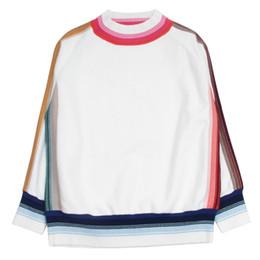 2019 saltador de lã de qualidade Atacado-mulheres oversized camisola de decolagem quente pullover jumper de lã de malha blusas listradas malhas de alta qualidade branco e preto cor saltador de lã de qualidade barato