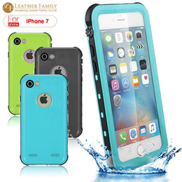 Wholesale Plastic Fingerprints - Waterproof case Protection cover for iphone7 4.7 inch case silicone bag with fingerprint with package