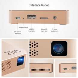 Wholesale tv boxes for shipping - VEZ BOX T Multimedia Home Theater Video Projector Support 1080P HDMI USB SD Card VGA AV for Home Cinema TV Laptop Game Smartphones drop ship