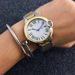 Wholesale Roman Battery - Fashion Brand women's Girl Roman numerals dial Stainless steel band Quartz wrist Watch CA01