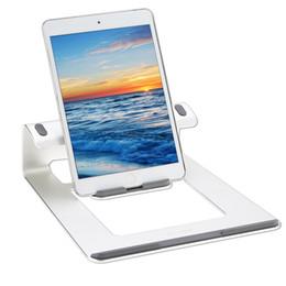 Wholesale Notebook Cooler Stand - Wholesale- BUJIAN Ergonomic Design Aluminum Laptop Stand Desk Dock Holder Bracket Cooler Cooling Pad for MacBook Pro Air iPad  Notebook PC