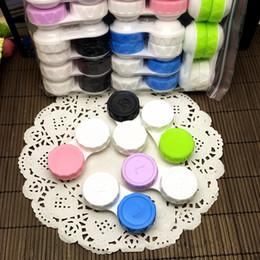 Wholesale Wholesale Fahion - Fahion Contact Lens Storage Case Kit Mate Double Lens Box L and R Lid