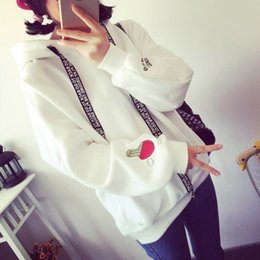 Wholesale Women S Jackets Sale - Hot sale 2016 autumn and winter new college wind velvet thicken long-sleeved hooded sweater female students loose clothes coat jacket tide h