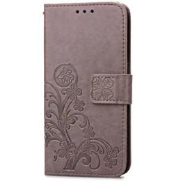 Casi doogee x5 online-Custodia Four Leaf Clover per Doogee X5 Pro Cover con custodia a portafoglio Flip per Doogee X5 Pro Phone Coque Hoesjes PU Leather