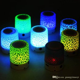 Wholesale Portable Speakers New Arrivals - 2017 new arrival micro bass mp3 Portable Mini Speaker Speaker LED light Speakers Bass Stereo Speaker no usb and TF card