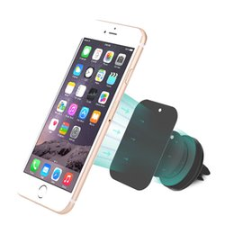 Wholesale Magnets Custom - Wholesale Personalized Custom Logo Car Mount Strong Magnet Air Wind Outlet Phone Stand for Android iPhone Mobile Phone with Case