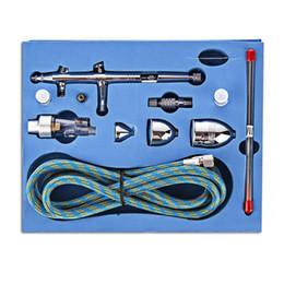Wholesale Spray Triggers - SP186K Gravity Feed Dual Action Trigger Airbrush Kit 0.2mm 0.3mm 0.5mm Needle Air Brush Spray Gun Paint Art
