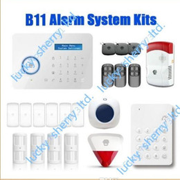 Wholesale Chuango Security Gsm Touch - Chuango B11 Wireless Touch Keypad GSM Phone SMS SIM CARD   PSTN Home Security Burglar Alarm System WS280 Delivery Time 5-7days
