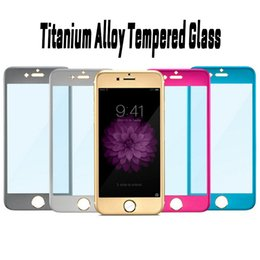 Wholesale Iphone Titanium Cover - 3D Curved Full Cover Titanium Alloy Tempered Glass Screen Protector For iphone 6 6s 6 plus 7 7 plus in paper package