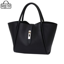 Wholesale Special Tote Brands - Wholesale-New 2016 Good Quality Women Handbags Famous Brands Special Trapeze 2 PCS In Set Luxury Shoulder Bag Tote Lady Pouch C0458