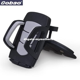 Wholesale Car Holder For Iphone 4s - Coabao Soporte Movil Car CD Dash Slot Stand for Mobile Cell phone Holder Mount for ipphone 4s 5 6s plus samsung galaxy s6