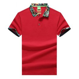 Wholesale Block Shirt - New Arrival 2017 hliantao brand Summer Style Short Sleeve Solid Color Color block Polo Shirts Brand Mens Polos shirt plus size M-XXL 1536