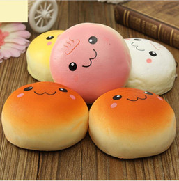 Wholesale Baby Phones - 10cm Smile Marshmallow Bun Squishy Phone Charm Squishy Pendants Baby Toys Phone Straps for Cell Phone Decoration