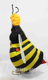 Wholesale fancy dress bee - Wholesale-Women's Bumble Bee Costume Inflatable Fancy Dress Outfit Purim Halloween Holidays Party Bar Club Cosplay Animal Suit Costume