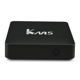 Wholesale Amlogic Cortex - KM5 Smart Android TV Box Amlogic S905X 64bit Quad-Core Cortex-A53 Android 6.0 Box Fully Loaded 1GB 8GB Google 4K Streaming Player