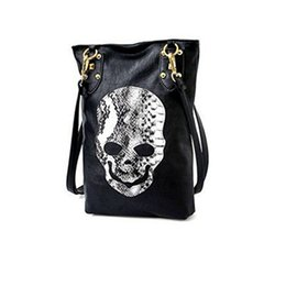 Wholesale Trends Casual Bag - Fashion Handbags Trend 2016 Vintage Classic Lady Long Bags Casual Snakeskin PU Leather Bags Messenger Bags Skull Handbag H020