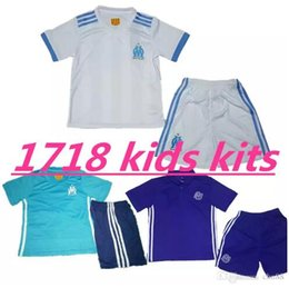 Wholesale Boy Top Quality - top Quality 2017 2018 Olympique Marseille kids kit Soccer Jersey 17 18 Batshuayi Gignac Maillot de Foot Payet Lass Home Shirt free shipping