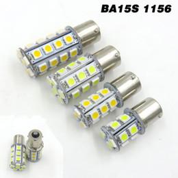 Led 1156 5w онлайн-Пакет из 10, BA15S 1156 1141 белый / теплый белый 2W 3W 4W 5W 13/18/24/30 5050 SMD светодиодные лампы AC / DC12-24V / DC12V внутреннее освещение