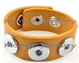 Wholesale Oem Welcome - A20009 OEM ,ODM welcome hot sale noosa bracelet PU noosa button snaps bracelets
