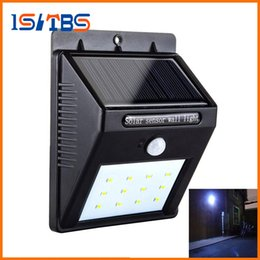 Wholesale Garden Led Wall Solar Pir - 12 LED Solar Light Outdoor Powered Wireless PIR Motion Sensor LED Solar Lamp Garden Waterproof Landscape Yard Lawn Wall Lamp