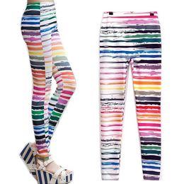 Wholesale Sunflower Pants - Wholesale- 2017 New Women American Flag Sunflower Stripes Star Print Thin Leggings Pants HT