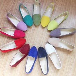 Wholesale Shoes 43 Female - Spring Summer Casual Women's Singles Shoes 2017 New Ladies Girls Student Flat Shoes Sweet 17 colors Female Work Shoes Large Size 35-43