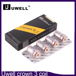 Wholesale Head Coils - Uwell Crown 3 Coil Head Replacement Crown III Tank Coils 0.25ohm 0.5ohm SUS316L 0266127
