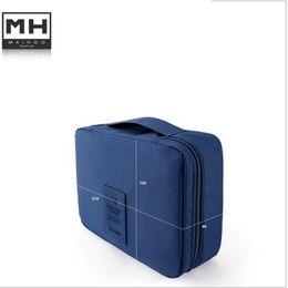 Wholesale Travel Case Handle - Wholesale- hot tote Women Handbag Cosmetic Toiletry bag Storage Bag Makeup Bag Travel Organizer Case with handle necessaries 85017