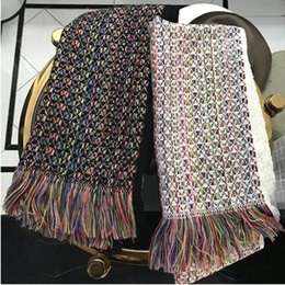 Wholesale Silk Scarfs Plain - 2017 women winter fashion cashmere wool knit scarf luxury brand scarves shawls echarpe foulard femme de marque sjaals cachecol inverno